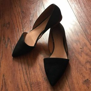 Madewell Suede & Leather D'Orsay Flat